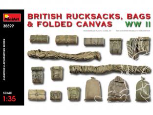 Mini Art maquette militaire 35599 Sacs à dos britanniques sacs et toile pliée WWII 1/35