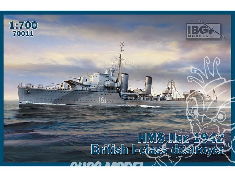 IBG maquette bateau 70011 HMS Ilex 1942 destroyer britannique de classe I 1/700