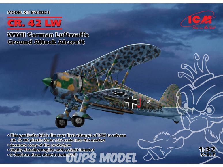 Icm maquette avion 32021 Fiat CR.42 Falco1/32