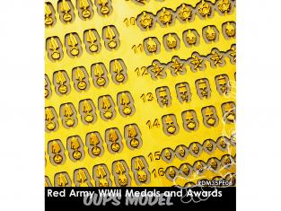 Rado miniatures figurines photodécoupe RDM35PE06 Medailles et récompenses Armée rouge WWII 1/35