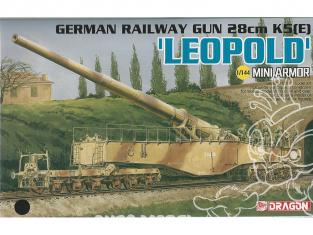 Canon Ferroviaire allemand 28cm K5 (E) 'Leopold' 1/144