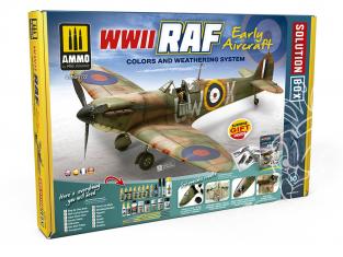 MIG Solution Box 7722 WWII RAF Early Aircraft Couleurs et vieillissement - Livre