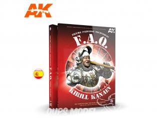 Ak Interactive livre AK631 F.A.Q. TECHNIQUES DE PEINTURE DE FIGURINES en Espagnol