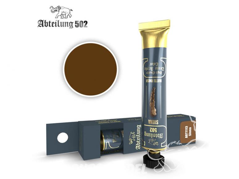 Abteilung 502 Tube Couleurs acryliques denses de haute qualité ABT1113 Sienne