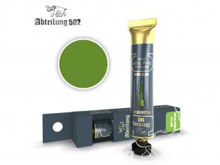 Abteilung 502 Tube Couleurs acryliques denses de haute qualité ABT1111 Vert jaunâtre