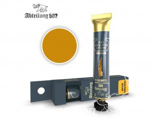 Abteilung 502 Tube Couleurs acryliques denses de haute qualité ABT1110 Ocre jaune