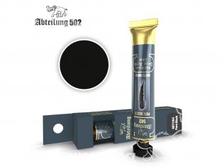 Abteilung 502 Tube Couleurs acryliques denses de haute qualité ABT1104 Noir pur