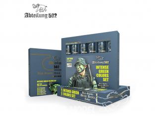 Abteilung 502 Tube Couleurs acryliques denses de haute qualité ABT1166 SET DE COULEURS VERT INTENSE