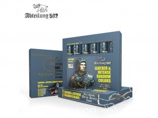 Abteilung 502 Tube Couleurs acryliques denses de haute qualité ABT1165 SET DE COULEURS COULEURS DE CUIR ET D'OMBRES INTENSE