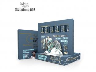 Abteilung 502 Tube Couleurs acryliques denses de haute qualité ABT1162 SET DE COULEURS FROID INTENSE