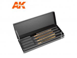 Ak pinceau AKSK10 ÉTUI DE LUXE POUR BROSSES KOLINSKY SIBÉRIENNES PREMIUM pinceaux de 00-0-1-2