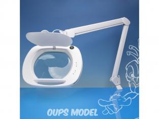 LightCraft LC9100LED Lampe loupe à DEL à objectif large avec double variateur