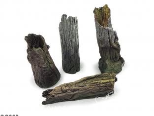 Vallejo Bases de diorama SC303 Grandes souches d'arbres 1/35