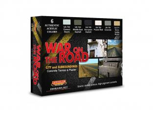 Lifecolor set de peintures cs49 Guerre sur la route