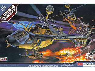 Academy maquette Helicoptére 12131 U.S. Army OH-58D Black Death 1/35