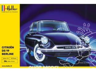 HELLER maquette voiture 80795 STARTER KIT Citroen DS 19 1/16