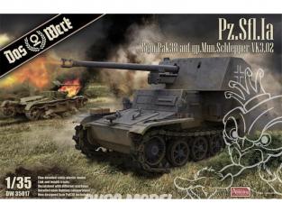 DAS WERK maquette militaire DW35017 Pz.Sfl. Ia - 5cm Pak 38 auf gp. Mun Schlepper VK3.02 1/35