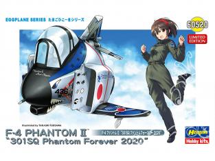 Hasegawa maquette figurine 60520 Collection Egg GF-4 Phantom II «301SQ Phantom Forever 2020» 1/12