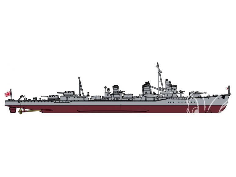 Hasegawa maquette bateau 43176 Destroyer de la marine japonaise Minegumo (type Asashio) Full Hull Special 1/700