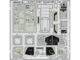 Eduard photodécoupe avion 32981 Intérieur Tornado GR.4 Italeri 1/32