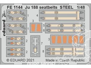 EDUARD photodecoupe avion FE1144 Harnais métal Junkers Ju 188 Revell 1/48