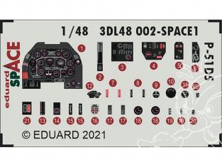 Eduard Space décalques 3D 3DL48002 P-51D-5 Eduard 1/48