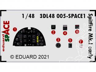 Eduard Space décalques 3D 3DL48005 Spitfire Mk.I Early Eduard 1/48