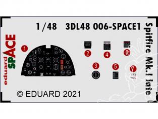 Eduard Space décalques 3D 3DL48006 Spitfire Mk.I Late Eduard 1/48