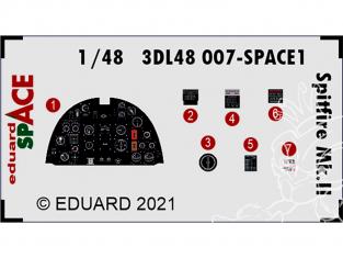 Eduard Space décalques 3D 3DL48007 Spitfire Mk.II Eduard 1/48