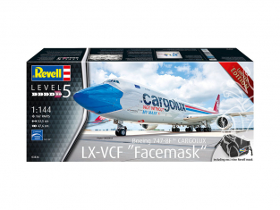 "Revell maquette avion 03836 Boeing 747-8F CARGOLUX LX-VCF ""Facemask"" 1/144"