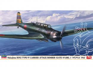 Hasegawa maquette avion 07499 Avion d'attaque Nakajima B5N2 Type 97 «Midway 1942» 1/48
