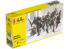 Heller maquette militaire 49602 Infanterie francaise 1/72