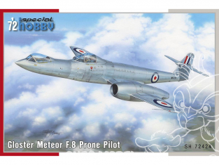 Special Hobby maquette avion 72424 Gloster Meteor F.8 Prone Pilot 1/72
