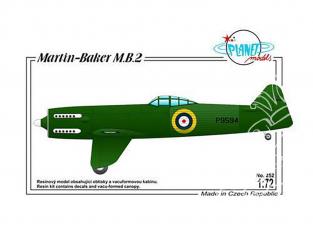 Planet Model PLT252 Prototype de chasseur britannique Martin-Baker MB-2 full resine kit 1/72