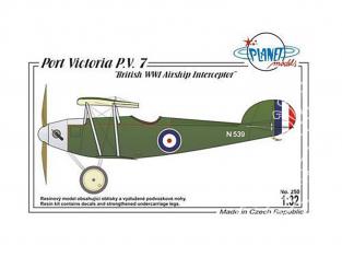 Planet Model PLT250 Port Victoria P.V.7 - Intercepteur de dirigeable britannique WWI full resine kit 1/72