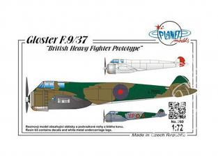 Planet Model PLT260 Gloster F.9/37 British Heavy Fighter Prototype full resine kit 1/72