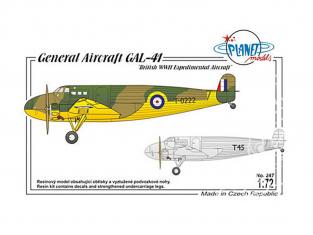 Planet Model PLT247 General Aircraft GAL-41 full resine kit 1/72