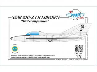 """Planet Model PLT265 SAAB 210-2 LILLDRAKEN """"Final Configuration"""" full resine kit 1/72"""