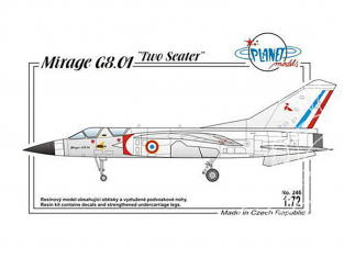 Planet Model PLT246 Dassault Mirage G8-01 full resine kit 1/72