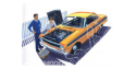 """Trumpeter maquette voiture 02508 64' FORD FALCON SPRINT HARDTOP """"street & strip"""" 1/25"""