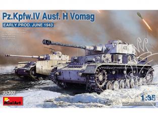 MINI ART maquette militaire 35302 Pz.Kpfw.IV Ausf. H Vomag. EARLY Production Juin 1943 1/35