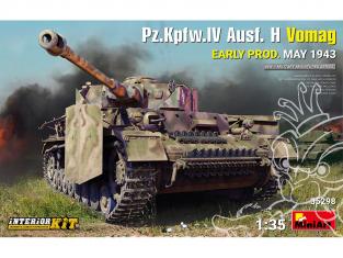 MINI ART maquette militaire 35298 Pz.Kpfw.IV Ausf. H Vomag EARLY Production MAI 1943 avec KIT INTÉRIEUR 1/35