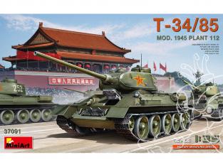 MINI ART maquette militaire 37091 T-34/85 Modéle 1945 PLANT 112 1/35