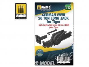 Ammo Mig accessoire 8119 Cric Jack 20 Tonnes long Allemand pour Tigre WWII 1/35