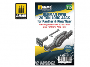 Ammo Mig accessoire 8121 Cric Jack 20 Tonnes long Allemand pour Panther & King Tiger WWII 1/35