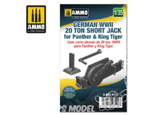 Ammo Mig accessoire 8122 Cric Jack 20 Tonnes court Allemand pour Panther & King Tiger WWII 1/35