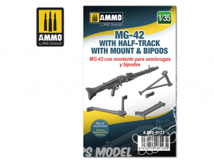 Ammo Mig accessoire 8123 MG-42 avec support Half-Track & Bipied 1/35