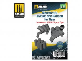 Ammo Mig accessoire 8124 NbKWrf39 Déchargeur de grenandes fumigènes pour Tigre 1/35