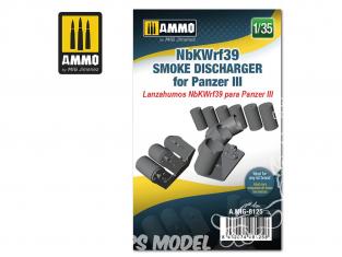 Ammo Mig accessoire 8125 NbKWrf39 Déchargeur de grenandes fumigènes pour Panzer III 1/35