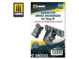 Ammo Mig accessoire 8127 NbKWrf39 Déchargeur de grenandes fumigènes pour Stug III 1/35